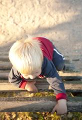 baby boy on playground