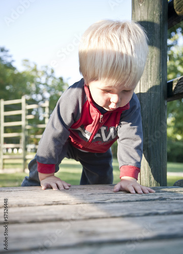 baby boy on playground