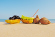 Fruit on beach