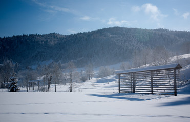 winter on countryside