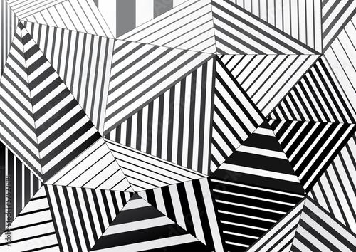 background of black and white striped triangles