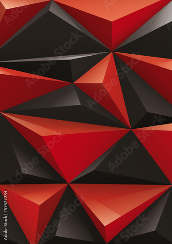 Background from red and black pyramid, top view