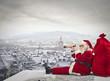 Leinwandbild Motiv Christmas landscape
