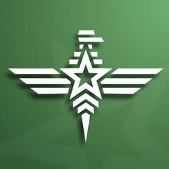 Military style eagle emblem