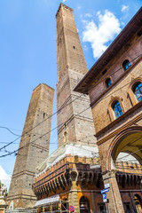 due torri, towers - town symbol of Bologna, Italy