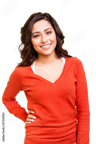 Young smiling woman posing