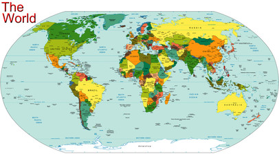 World Earth Continent Country Map