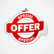 SPECIAL OFFER Marketing Sticker (label promotion sale)