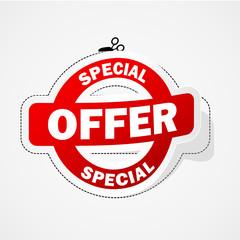 SPECIAL OFFER Marketing Sticker (label promotion sale)
