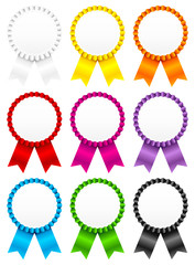 9 Award Badges Color