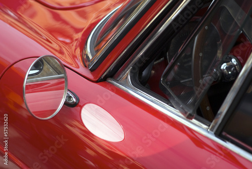 Close up detail of a classic car