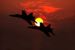 fighter jets silhouette - 57532809