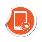 Phone with renew menu icon. Vector illustration