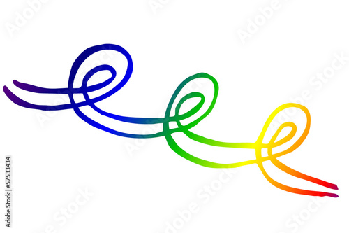 farbige Spiralform, Regenbogenfarben...