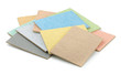 Color samples of  decorative plasters