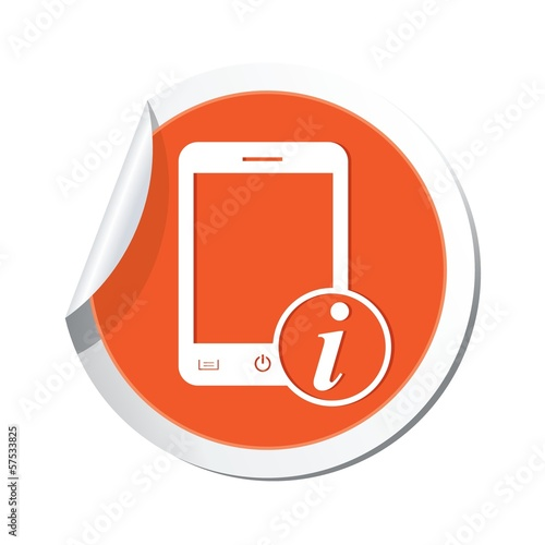 Phone with information icon. Vector illustration