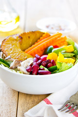 Healthy colourful salad
