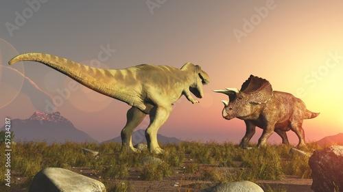 Fototapeten,dinosaurier,jura,dinosaurier,fight