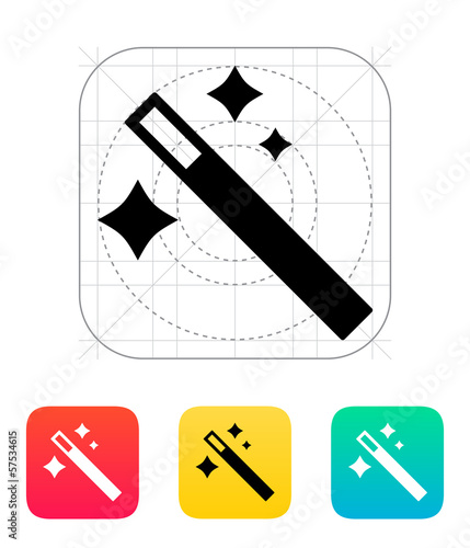 Magician wand icon.