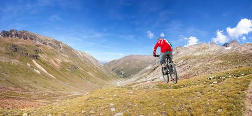 downhill in alta montagna