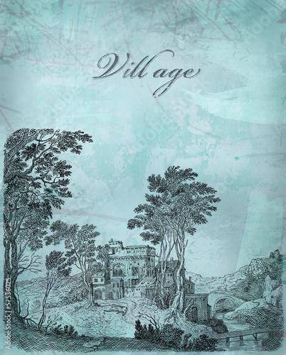 Village illustration - 57536025