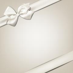 White gift bow.