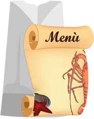 menù pesce di mare