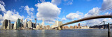 Manhattan skyline and Brooklyn Bridge, New York - 57537055
