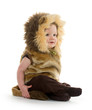 Boy in lion costume