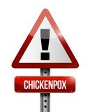 chickenpox road sign illustration design