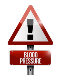blood pressure road sign illustration design