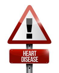 heart disease road sign illustration design