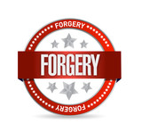seal with the word forgery. illustration design