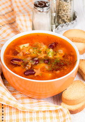 soup with red beans and carrots