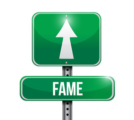 fame road sign illustration design