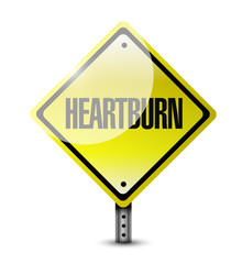 heartburn road sign illustration design