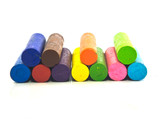 Oil crayons isolated
