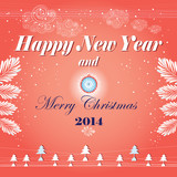 New Year's greeting card with