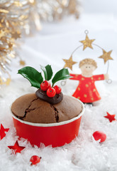 Christmas winter cake