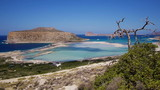 View of the lagoon Ballos(Balos) and the island Gramvousa, Crete