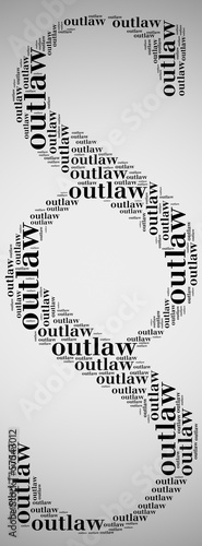 Tag or word cloud law related in shape of paragraph