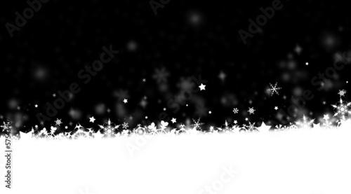 flocons de neige sur fond noir
