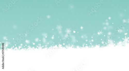 paysage enneigé - flocons de neige