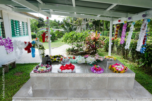 Family grave in Rarotonga Cook Islands
