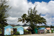 Colorful huts in Rarotonga Cook Islands