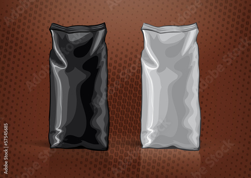 Black and white foil bag for new design