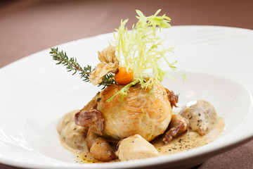quail  with sauce