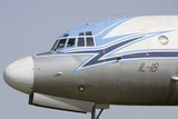 Ilyushin plane IL - 18 side view