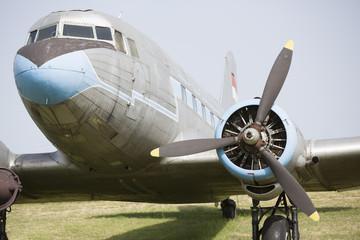 Ilyushin plane IL - 18 front view