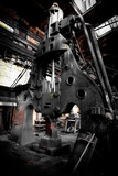 steam hammer in iron factory